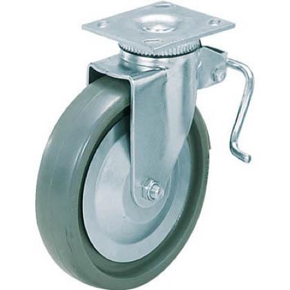 スガツネ(LAMP) 重量用キャスター径127自在ストッパー付ソリッドエラストマー車  31405BPSE