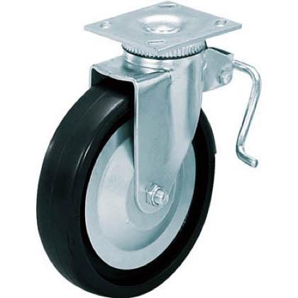 スガツネ(LAMP) 重量用キャスター径127自在ストッパー付クロロプレーンゴム車  31405BPD