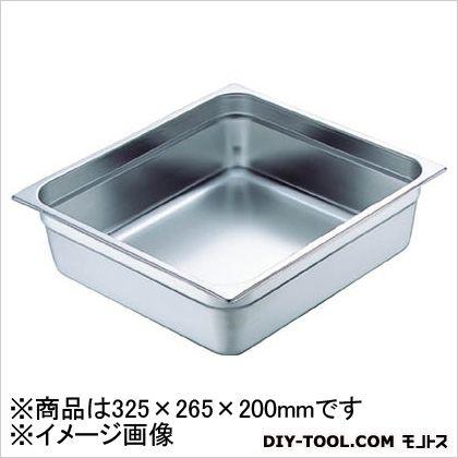 スギコ産業 18-8スーパーデラックスパン 1/2 325×265×200 SH1528SW 1 枚