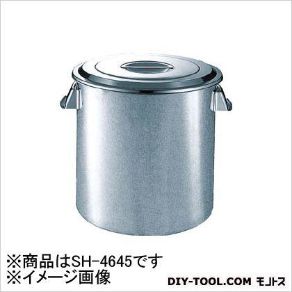 スギコ産業 ステンレスキッチンポット蓋付 手付 450×450 68L (SH4645) 1個 スギコ産業 キッチンツール 便利グッズ(キッチンツール)