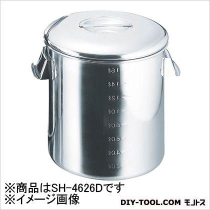 スギコ産業 18-8目盛付深型キッチンポット 内蓋式 260×260 (SH4626D) 1個 スギコ産業 キッチンツール 便利グッズ(キッチンツール)