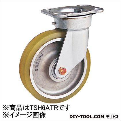 末廣車輌製作所 リボキャスター自由車 ウレタン車輪 Φ150 (×1個)  TSH6ATR