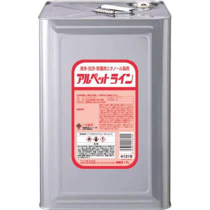 サラヤ サラヤ 清浄・洗浄・除菌用エタノール製剤 アルペットライン 17L 41315 1個  41315 1 個