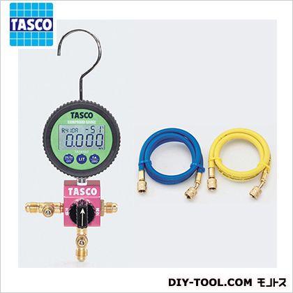タスコ ボールバルブ式デジタルシングルゲージマニホールドキット(R410A、R32)  TA123DZ-1
