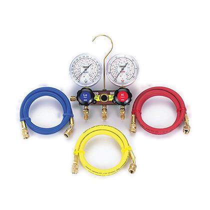 タスコ ゲージマニホールドキット(R404A、R407C、R507A、R134a) (TA124A-2) テスター