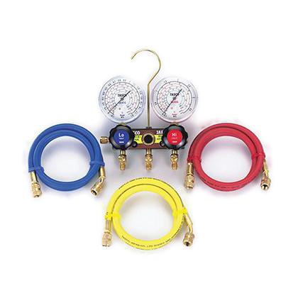 タスコ ゲージマニホールドキット(R404A、R407C、R507A、R134a) (TA124AH-2) テスター