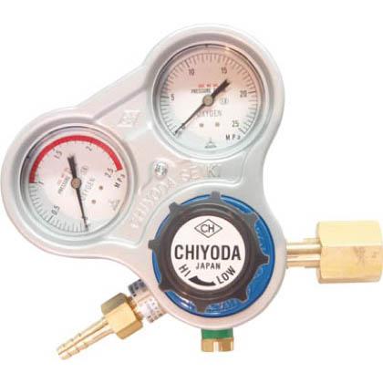 チヨコック 千代田 酸素用調整器スタウト(関東式)乾式安全器内蔵型 1台 SROAE  SROAE 1 台