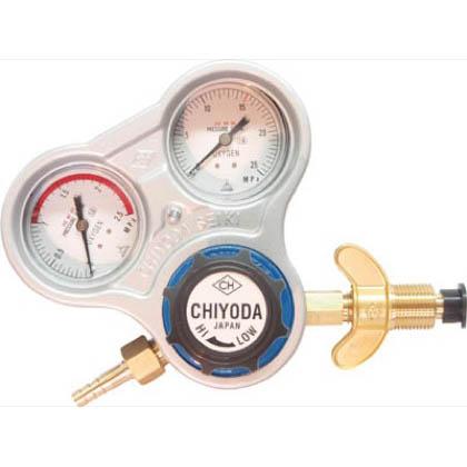 チヨコック 千代田 酸素用調整器スタウト(関西式)乾式安全器内蔵型 1台 SROAW  SROAW 1 台