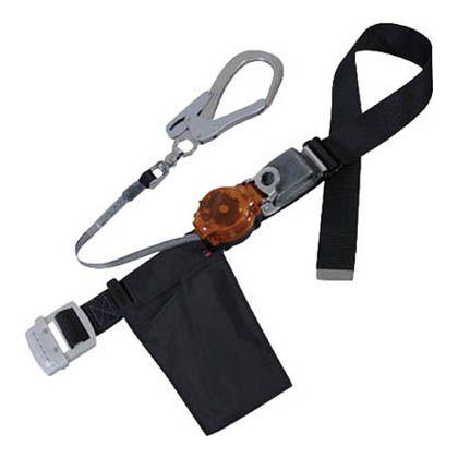 ツヨロン 2WAYリトラ安全帯 黒色 軽量型 オレンジ (TRL-90ALSV-BLK-OR-BP)