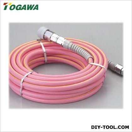 十川産業 クアトロホース(高圧専用カプラ付) ピンク 6×10×20m