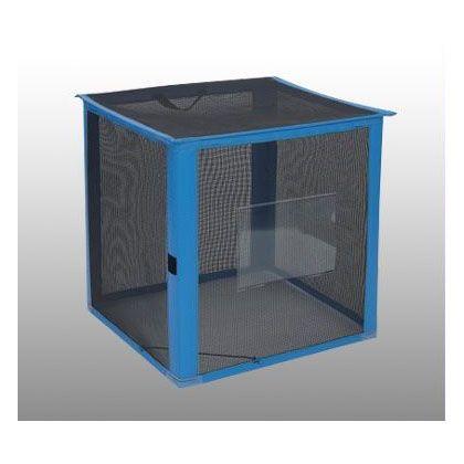テラモト 自立ゴミ枠折りたたみ式カラス対策商品 黒 700×700×700 340L DS-261-012-9