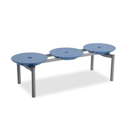 テラモト ディスクベンチ スタッキング ブルー BC3093133