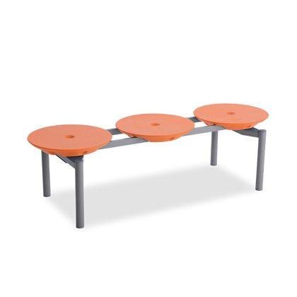 テラモト ディスクベンチスタッキング オレンジ BC3093135