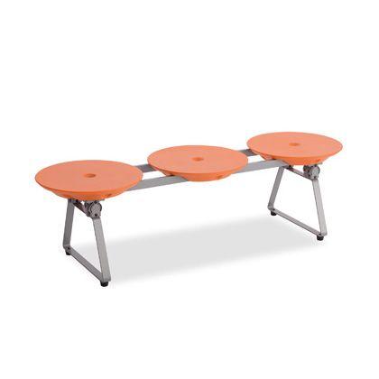 テラモト ディスクベンチフォールディングタイプ オレンジ BC3095135