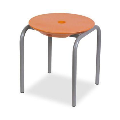 テラモト ディスクスツール オレンジ L BC3096305