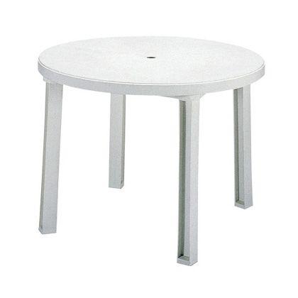 テラモト ガーデン サンテーブル ホワイト MZ5952018