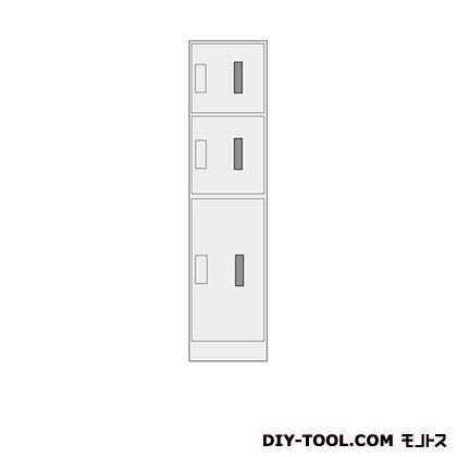 東精ボックス 電池対応 片面式宅配ボックス 3ボックス 焼付塗装 日塗工U-85C アイボリー(3分艶消) 幅420×奥行き517×高さ1790mm TR-6C/F(窓付)