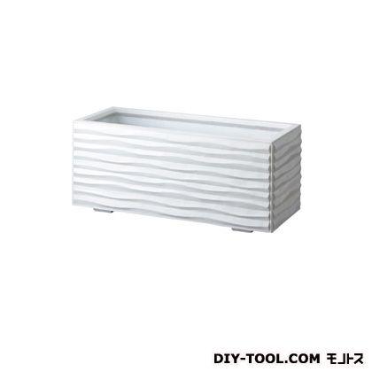 トーシンコーポレーション ウェーブ(モダンタイププランター) ホワイト W820×D420×H420 WAV-840-WH 個
