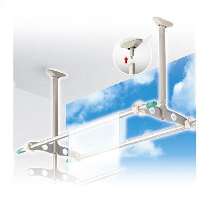 DRY WAVE 吊下げ型可動式物干金物 標準タイプ ステンカラー 600~900mm×450mm TC6090[ST] 1 組
