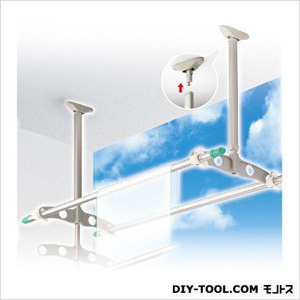DRY WAVE 吊下げ型可動式物干金物 ショートタイプ ステンカラー 450~600×450mm TD4560[ST] 1組