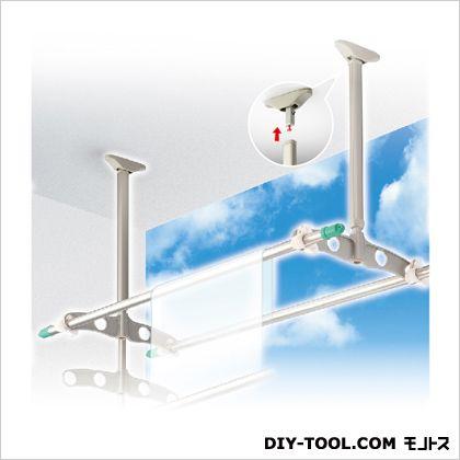 DRY WAVE 吊下げ型可動式物干金物 標準タイプ ステンカラー 600~900mm×450mm TD6090[ST] 1組