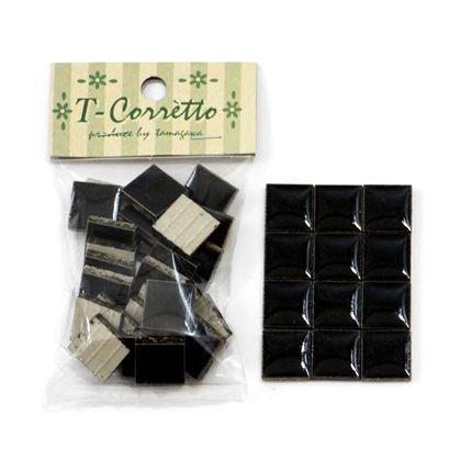 玉川窯業 モザイクタイル T-コレット ブラック 約15×15×4mm 15K-10 25個入