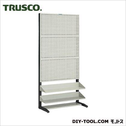 トラスコ パンチングラック棚板付タイプ片面  UPR3002
