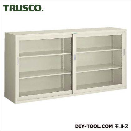 トラスコ(TRUSCO) 耐薬品保管庫ガラス引違型1760X400XH880 410 x 1775 x 890 mm