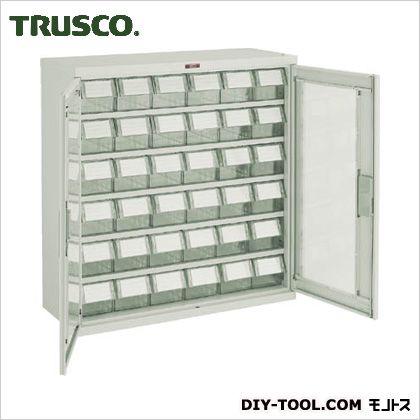 トラスコ(TRUSCO) バンラックケースM型両開き扉透明引出小X36個透明 TM T305M-N36S