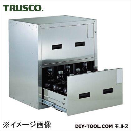 トラスコ(TRUSCO) 耐震薬品庫705X600XH8002段引出型 65 x 75.5 x 84.5 cm SYW-2