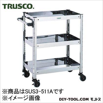 品質満点 SUS304ステンレスワゴン トラスコ SUS3511A:DIY ONLINE FACTORY W620×D420×H800 SHOP -DIY・工具