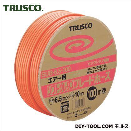 トラスコ ソフトウレタンブレードホース ドラム巻 6.5×10mm 100m (SUB6.5100) TRUSCO エアーホース 常圧用エアホース