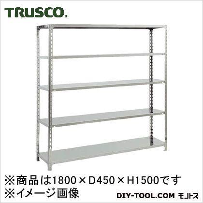 トラスコ(TRUSCO) SUS430製軽量棚1800XD450XH1500天地5段 450 x 1800 x 300 mm SU4-5645