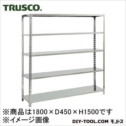トラスコ(TRUSCO) SUS304製軽量棚1800XD450XH1500天地5段 450 x 1800 x 300 mm SU35645