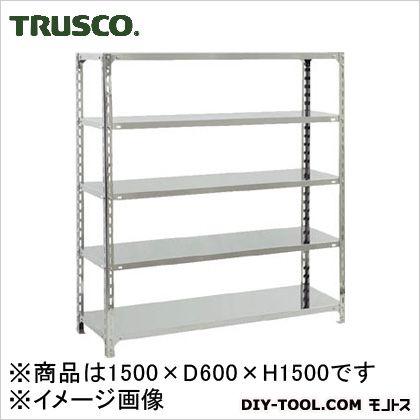 トラスコ(TRUSCO) SUS304製軽量棚1500XD600XH1500天地5段 600 x 1500 x 300 mm SU35565