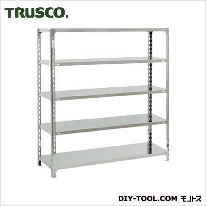 トラスコ(TRUSCO) SUS304製軽量棚1500XD450XH1500天地5段 450 x 1500 x 300 mm SU35545