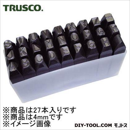 トラスコ 逆英字刻印セット 4mm SKC40