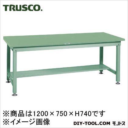 トラスコ(TRUSCO) SHW型作業台1200X750XH740緑 GN SHW-1200