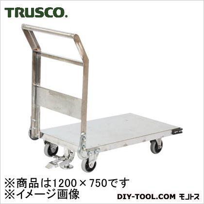 トラスコ ステンレス鋼板製運搬車 固定式 S付 1200X750 SHS1S