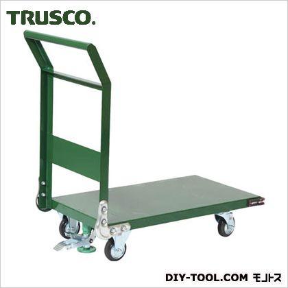 トラスコ 鋼鉄製運搬車ストッパ付き 緑 800×450 SH3NS