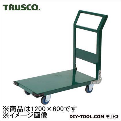 トラスコ 鋼鉄製運搬車エアーキャスター付き グリーン 1200×636 SH2LNAC