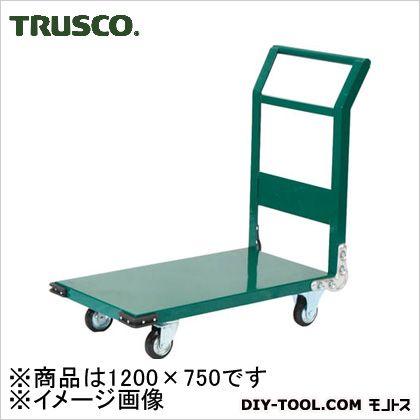 トラスコ 鋼鉄製運搬車 緑 1200×750 SH1N
