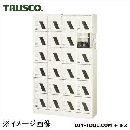 トラスコ シューズボックス24人用窓付 1050×380×1700 SC24WM
