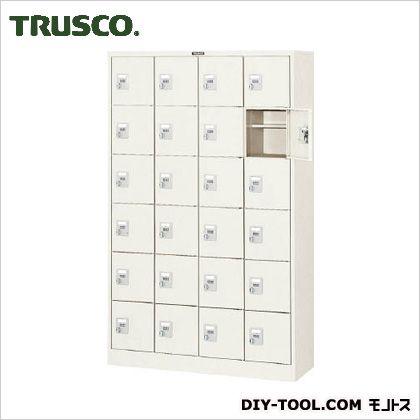 トラスコ シューズケース24人用棚付 1050×380×1700 SC24WK