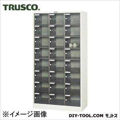 ※法人専用品※トラスコ(TRUSCO) シューズケース24人用900X380XH1700透明 390 x 915 x 1705 mm SC-24PC