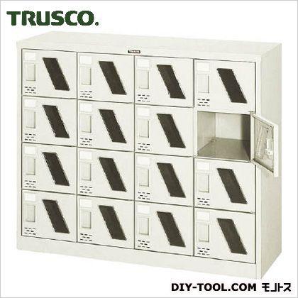 ※法人専用品※トラスコ(TRUSCO) シューズケース16人用1050X380XH880窓付 390 x 1065 x 885 mm SC-16WM