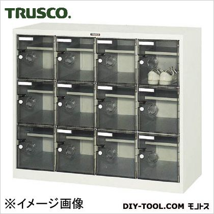 トラスコ ボックス透明扉付12人用 1050×380×880 SC12WPC
