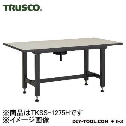 トラスコ ハンドル昇降式作業台 1200X750 TKSS1275H