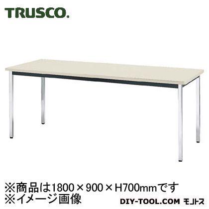 トラスコ 会議用テーブル棚無角脚 ニューグレー 1800×900×700 TDS1890