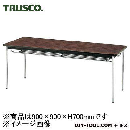 トラスコ(TRUSCO) 会議用テーブル900X900XH700丸脚ローズ RO 925 x 915 x 105 mm TDS-0990T